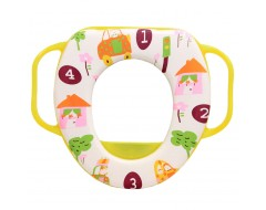 Lucky Baby Sponge Potty Seat w Easy Grip Handle - Yellow
