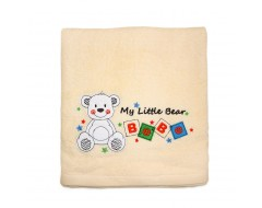Bebe Bath Towel w Twin Bears (Premium)