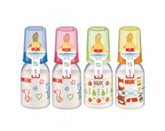 NUK 110ml Printed PP Botttle w/ Latex Teat Size 1 (0-6m)