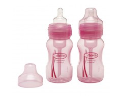 Dr Brown 8oz/240ml Natural Flow Wide Neck Baby Bottle x 2pk
