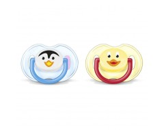 Philips Avent Animal Soother 0-6m (Twin Pack)
