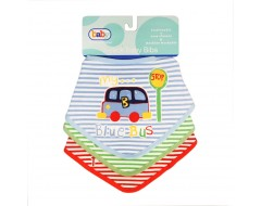 3 pack Baby Bibs - Transport