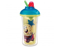 Munchkin 9oz Spongebob Click Lock Insulated Straw Cup