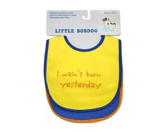 Little Bob Dog Baby Bib - 2pk