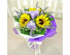 3 Sunflower Hand Bouquet