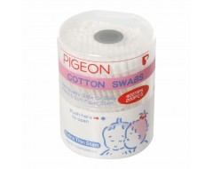 Pigeon Cotton Swabs Thin Stem 200pcs / hinged case