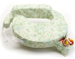 My Brest Friend Breastfeeding Pillow w Cotton Cover (Green Paisley)