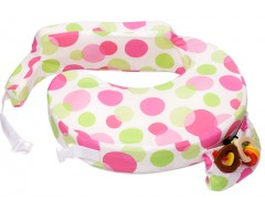 My Brest Friend Breastfeeding Pillow w Cotton Cover (Vibrant Dots)