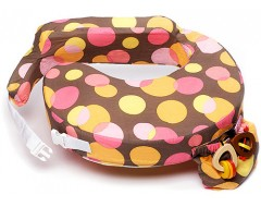 My Brest Friend Breastfeeding Pillow w Cotton Cover (Warm Dots)