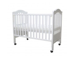 "Baby One Regine  4 in 1 Cot with 4"" Foam Antidustmite Mattress w Holes"