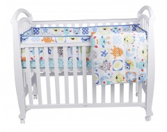 Bon Be Be Vermont 4-in1 Baby Cot Bundle White