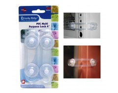 Lucky Baby Safety PVC Multi Purpose Lock 4""