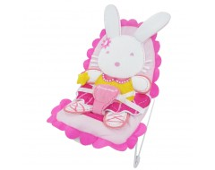 Lucky Baby Peppy™ Baby Bouncer - YOYO Pink Rabbit