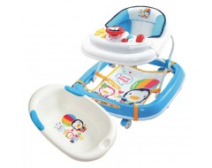 Puku Baby Walker with Bath Tub Bundle Blue