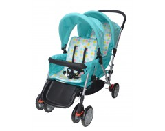 Mamalove Twin Stroller Turquoise