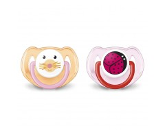 Philips Avent Animal Soother 6-18m (Twin Pack)